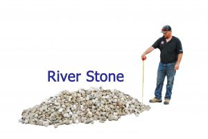 1 yard riverstone pile