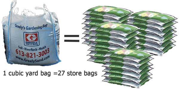 Ottawa cubic yard bags greely s gardening bags