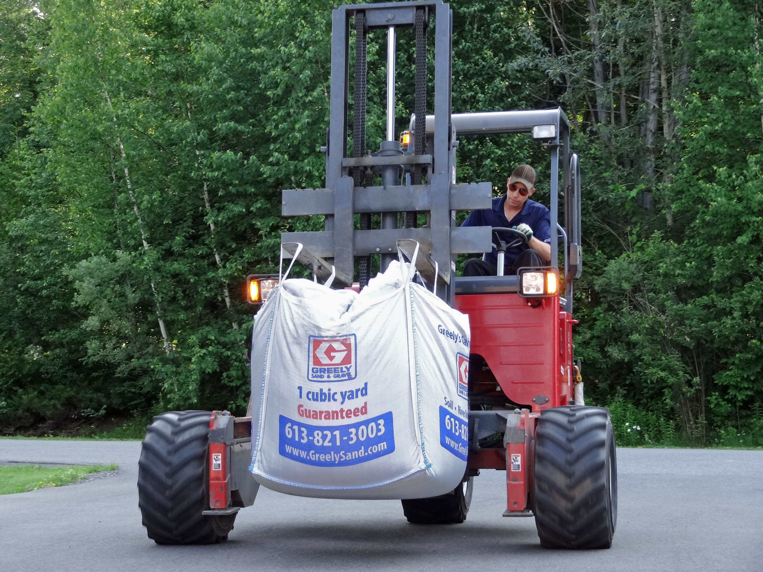 Moffett Delivery Of Cubic Yard Bag