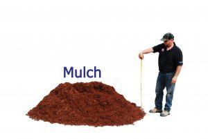 1 yard mulch pile