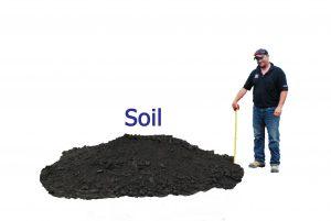 1 yard soil pile