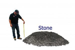 1 yard stone pile