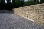 Concrete weather wall stone