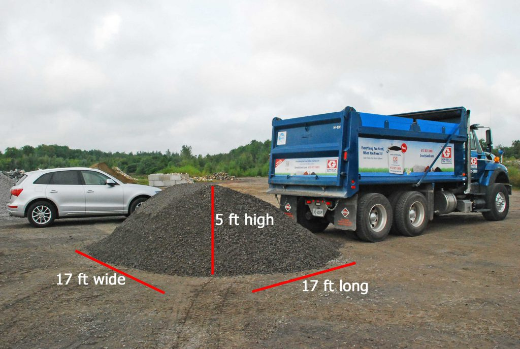 Stone tandem load with pile dimensions