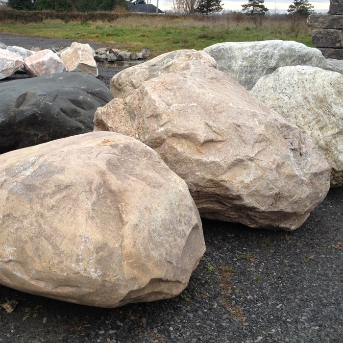 Large landscape rock ottawa greely sand gravel for Natural rock landscaping