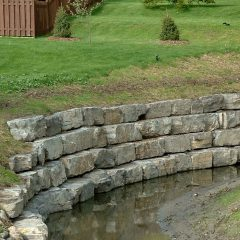 Ottawa Retaining Wall Stone - mountain grey wall stone