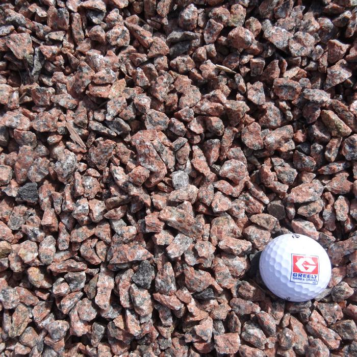 "1/2"" - 3/4"" Red Granite Stone"