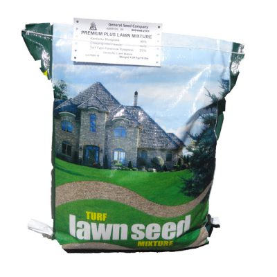 Image of a bag of lawn seed mixture. Click here to read more.