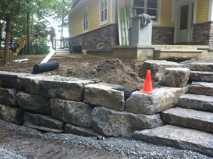 Wall Stone Installation