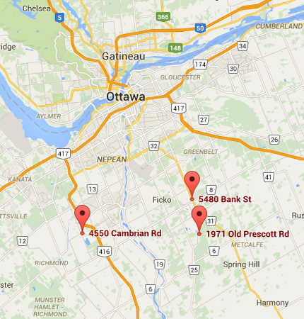 Greely location map