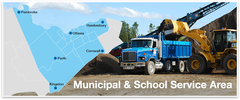 Ottawa municipal and school aggregate service area
