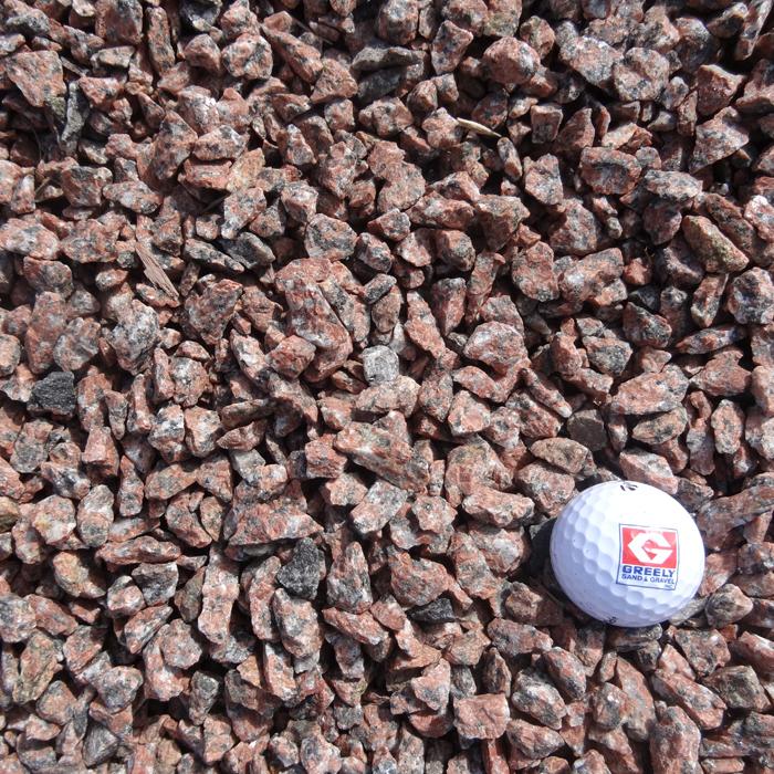 "1/2""-3/4"" Red Granite Stone"