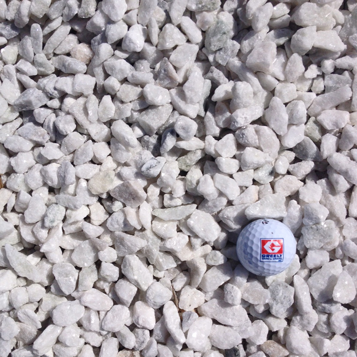 """1/2"""" - 3/4"""" White Stone"""