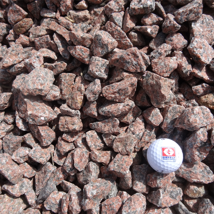 Red granite stone ottawa greely sand gravel for Red stone landscape rock