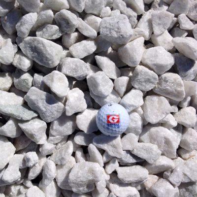 """3/4""""-1 1/2"""" White Stone"""