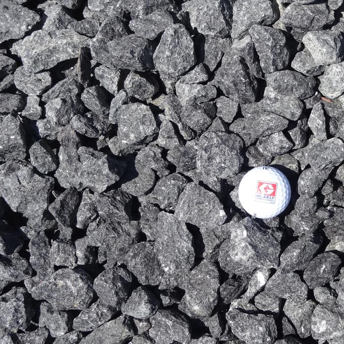 Black granite ottawa greely sand gravel for Black granite landscape rock