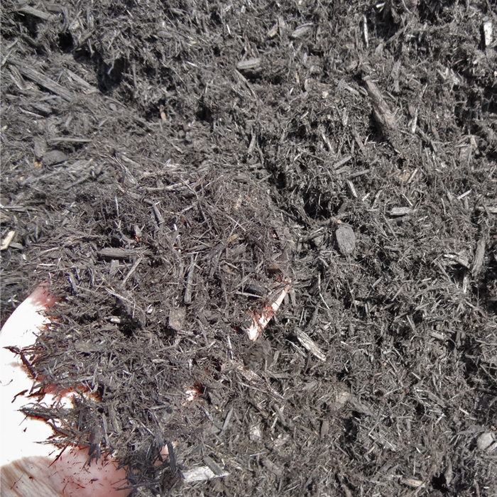 Black Shredded Cedar Mulch