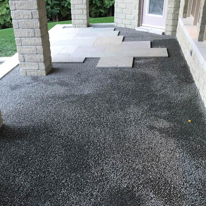 Premium Bedding Stone Installed