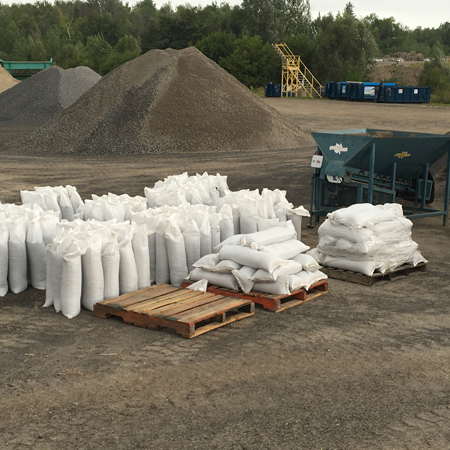 Sand Bags on skids
