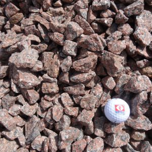 "3/4"" - 1 1/2"" Red Granite Stone"