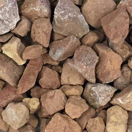 1″ Crushed Red Brick Chips